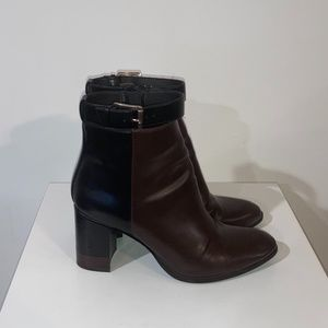 H&M Brown and Black Two-Tone Ankle Boots